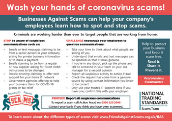 postcard from businesses against scams